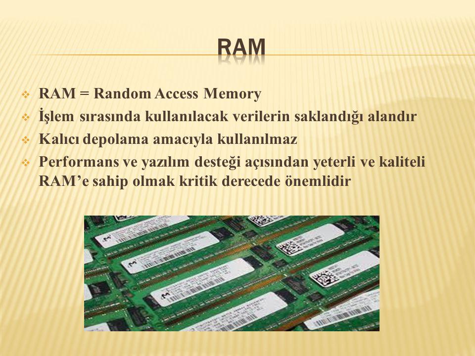 RAM RAM = Random Access Memory