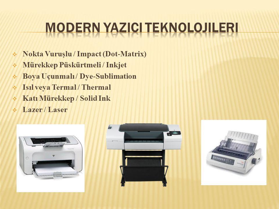 Modern YazIcI Teknolojileri