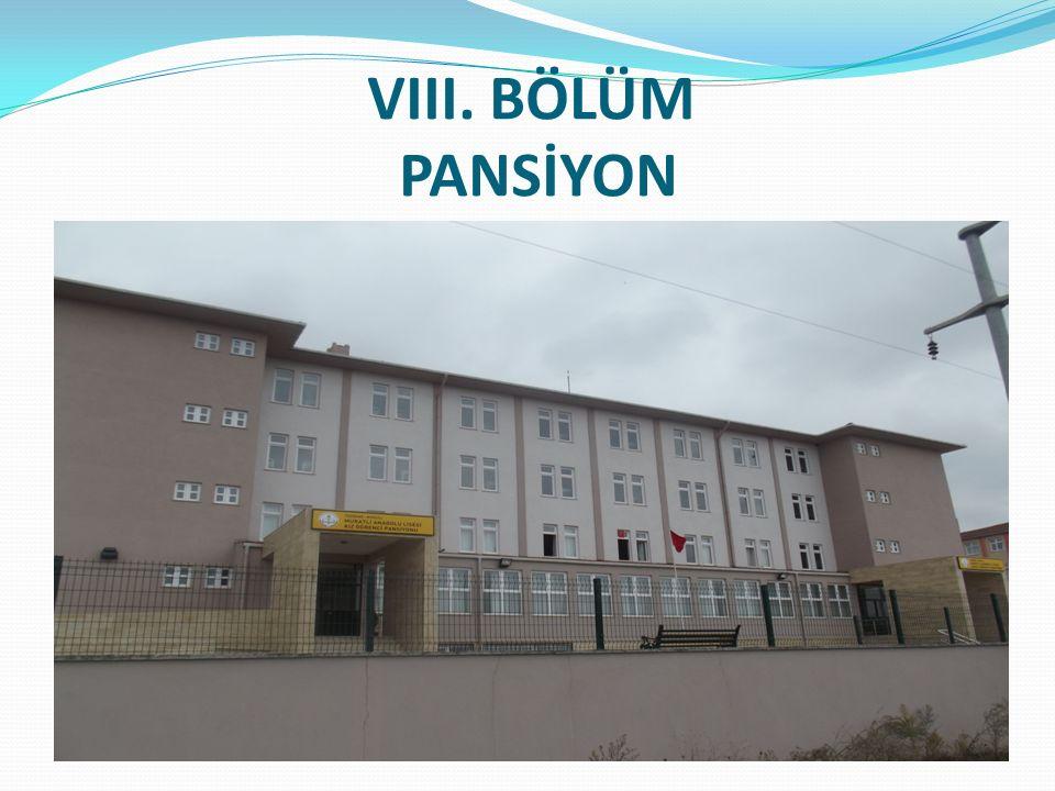 VIII. BÖLÜM PANSİYON