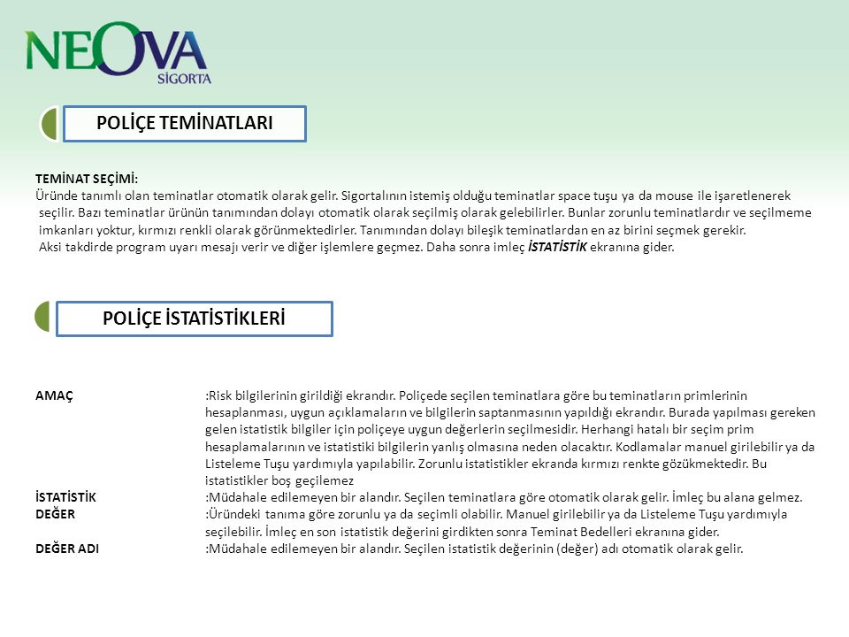 POLİÇE İSTATİSTİKLERİ