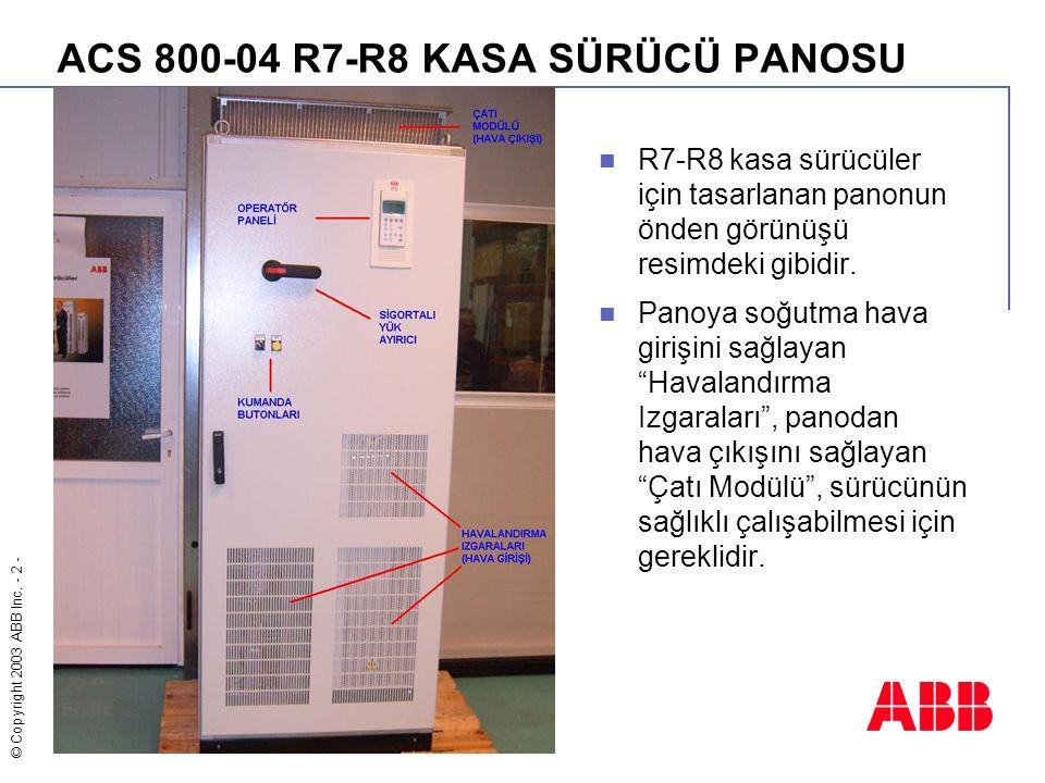 ACS 800-04 R7-R8 KASA SÜRÜCÜ PANOSU