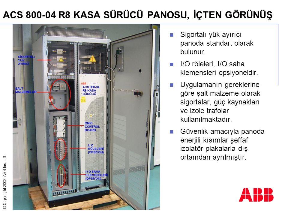 ACS 800-04 R8 KASA SÜRÜCÜ PANOSU, İÇTEN GÖRÜNÜŞ