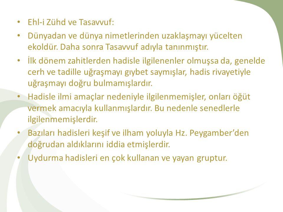 Ehl-i Zühd ve Tasavvuf: