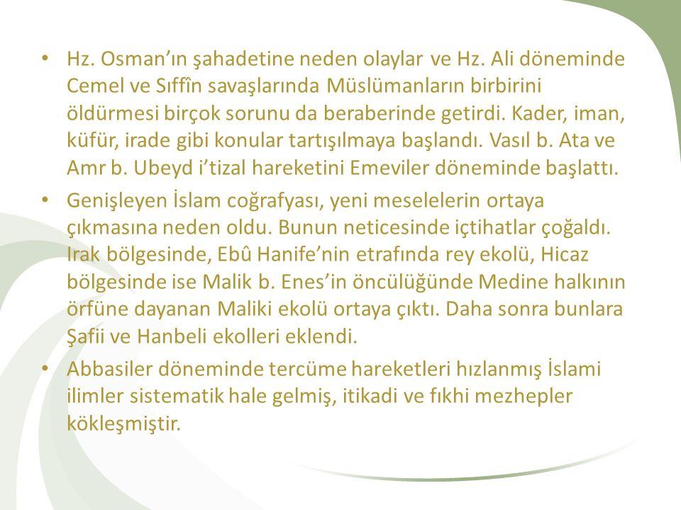 Hz. Osman'ın şahadetine neden olaylar ve Hz