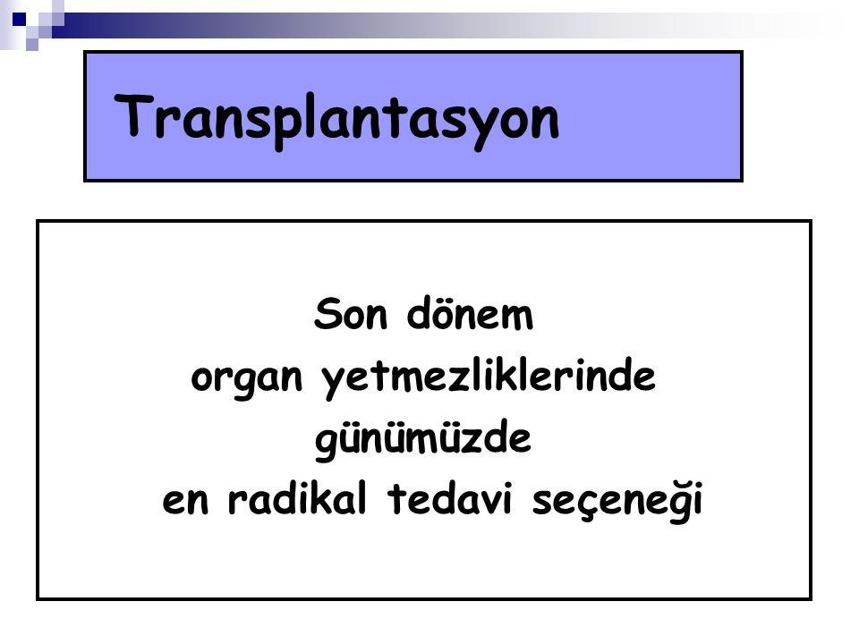 organ yetmezliklerinde en radikal tedavi seçeneği