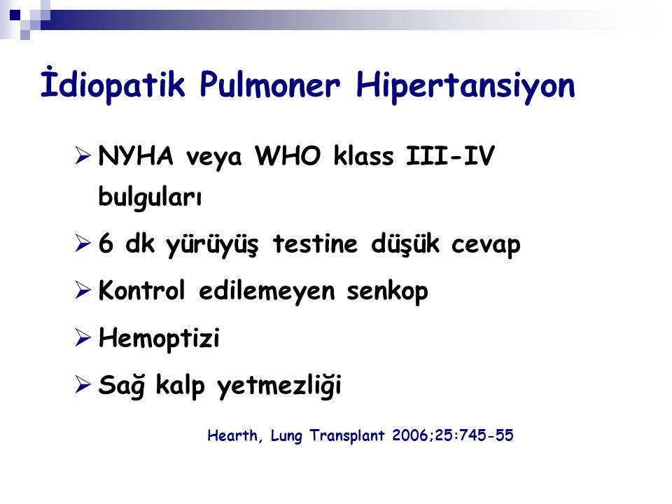İdiopatik Pulmoner Hipertansiyon