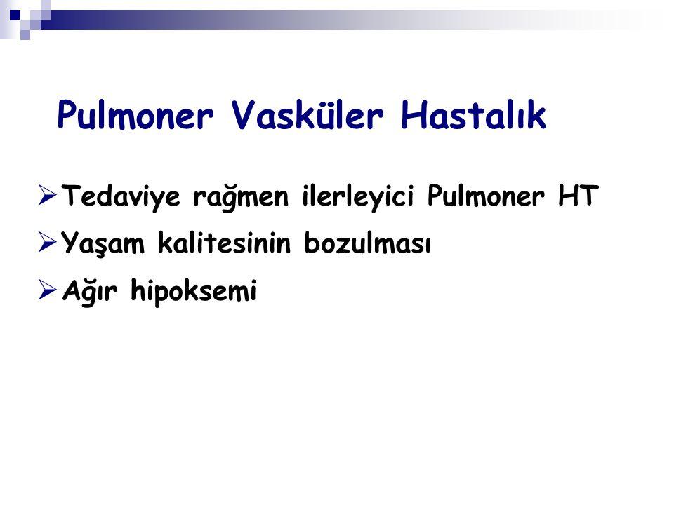 Pulmoner Vasküler Hastalık