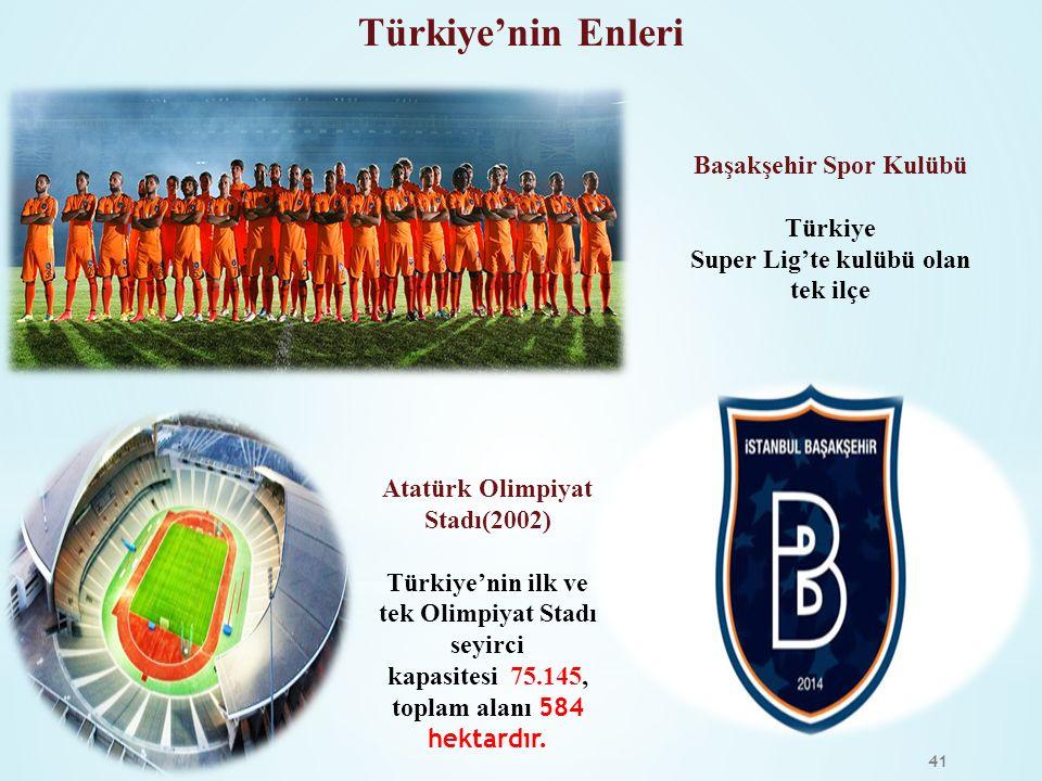 Türkiye'nin Enleri Başakşehir Spor Kulübü Türkiye