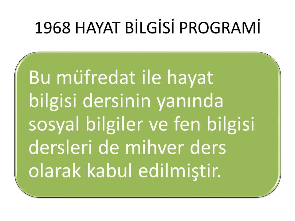 1968 HAYAT BİLGİSİ PROGRAMİ