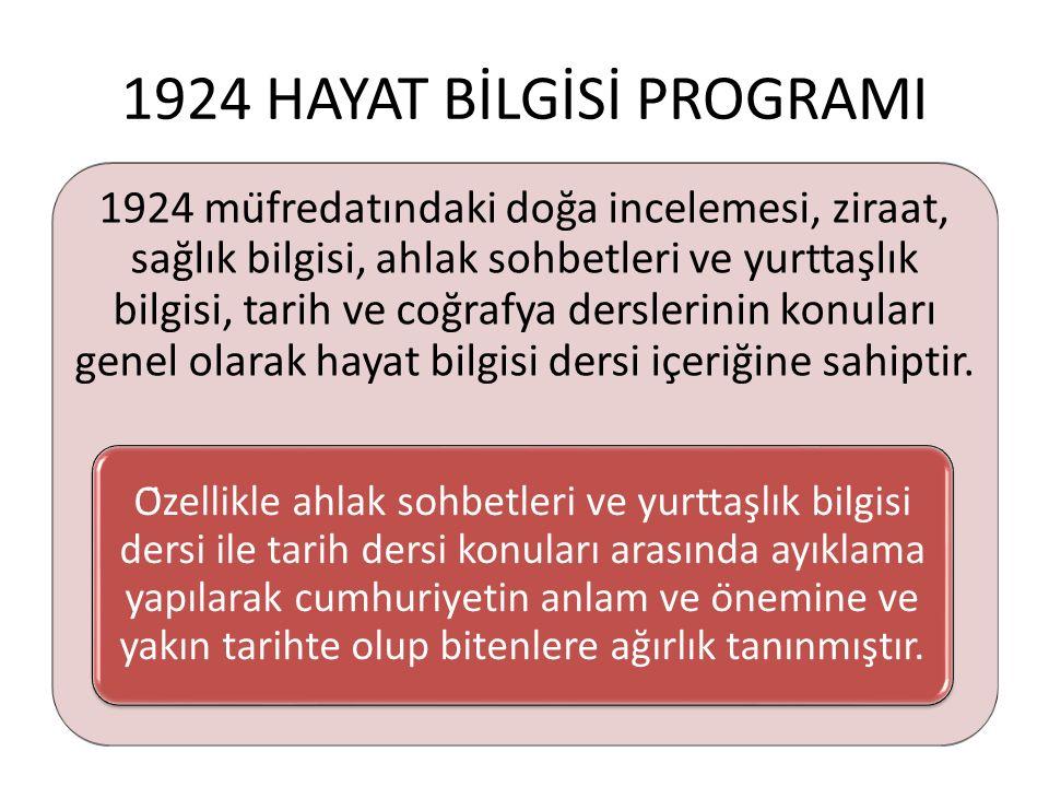 1924 HAYAT BİLGİSİ PROGRAMI