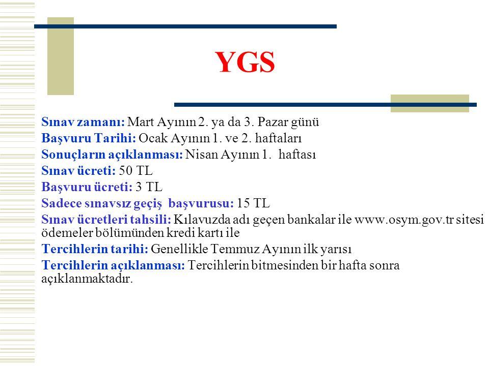 YGS Sınav zamanı: Mart Ayının 2. ya da 3. Pazar günü