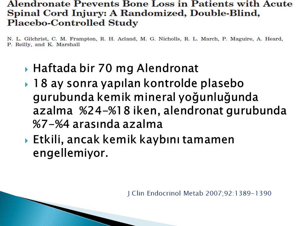 Haftada bir 70 mg Alendronat