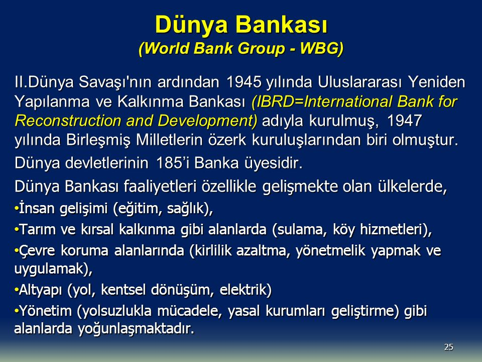 Dünya Bankası (World Bank Group - WBG)