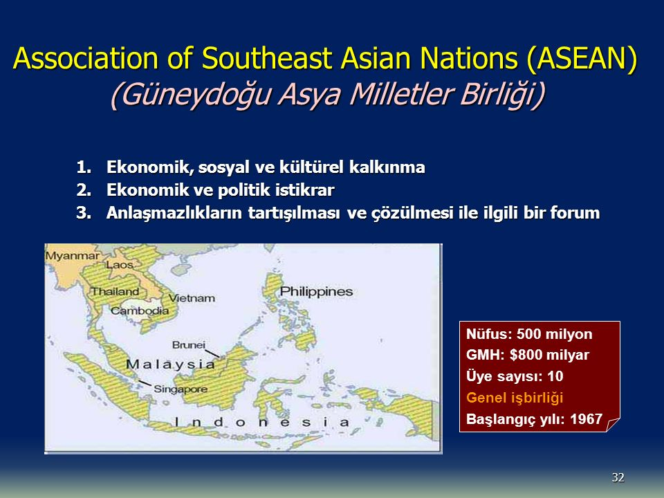 Association of Southeast Asian Nations (ASEAN) (Güneydoğu Asya Milletler Birliği)