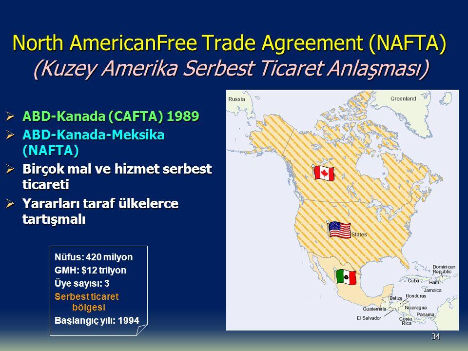 North AmericanFree Trade Agreement (NAFTA) (Kuzey Amerika Serbest Ticaret Anlaşması)
