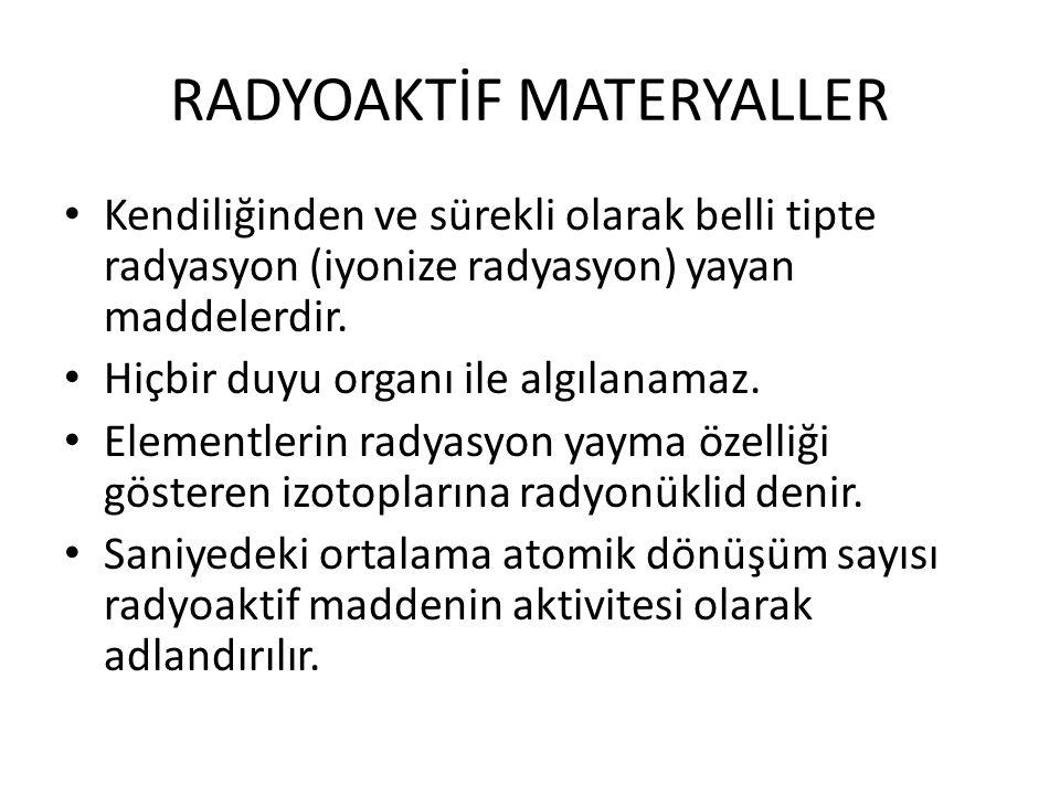 RADYOAKTİF MATERYALLER