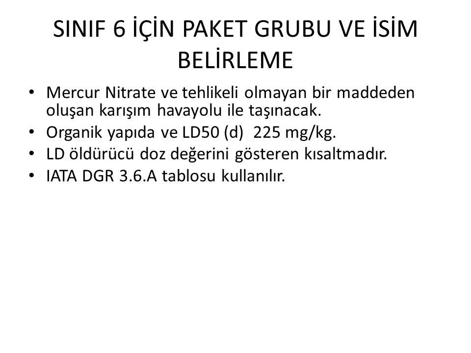 SINIF 6 İÇİN PAKET GRUBU VE İSİM BELİRLEME