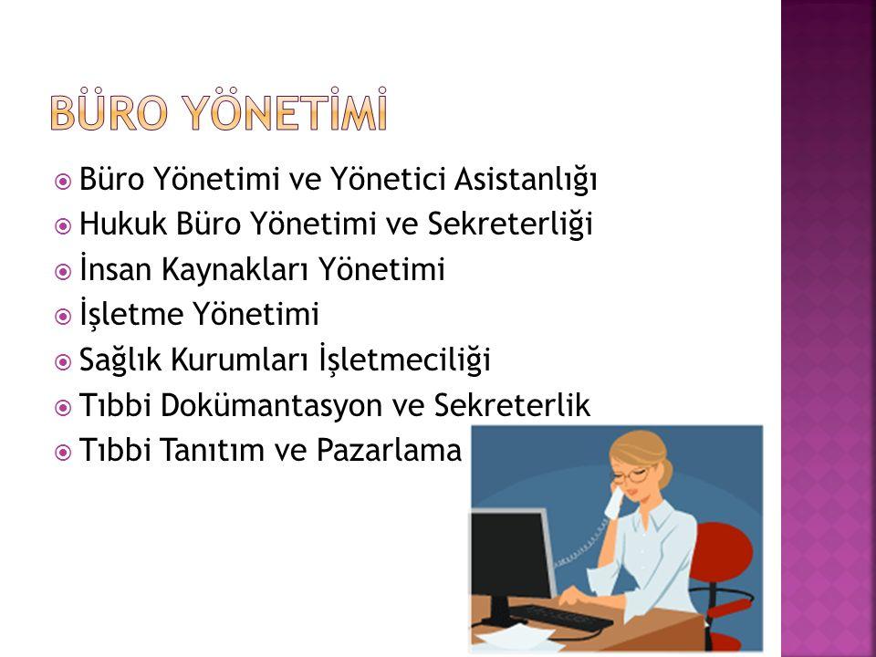 BÜRO YÖNETİMİ Büro Yönetimi ve Yönetici Asistanlığı