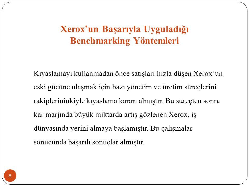 Xerox'un Başarıyla Uyguladığı Benchmarking Yöntemleri