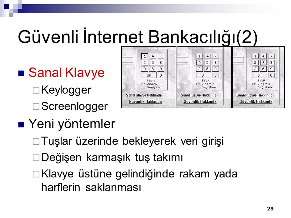 Güvenli İnternet Bankacılığı(2)