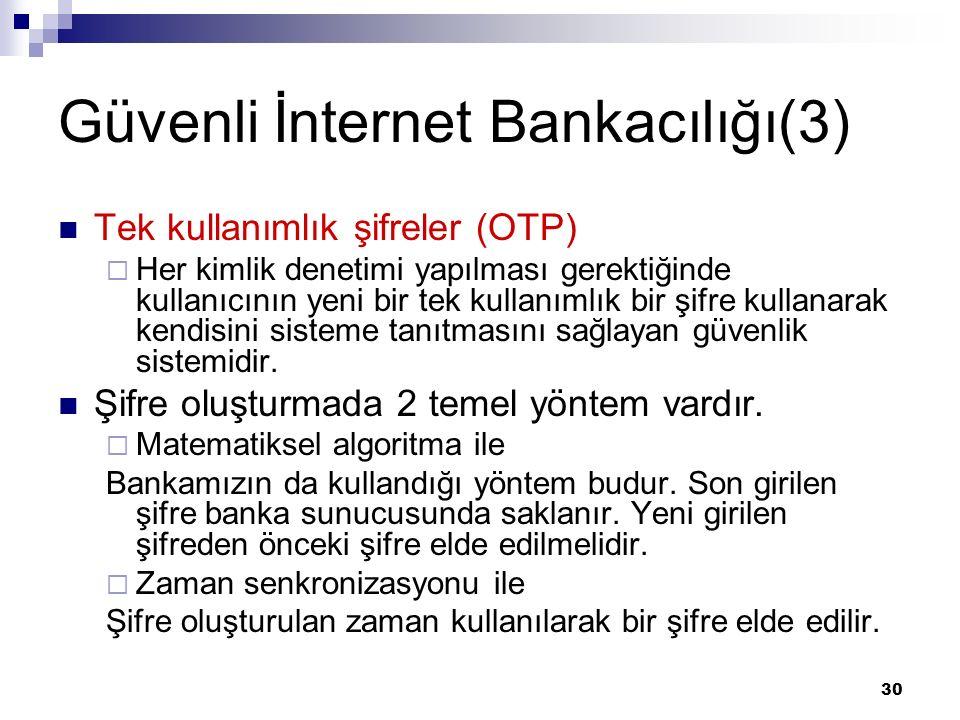 Güvenli İnternet Bankacılığı(3)