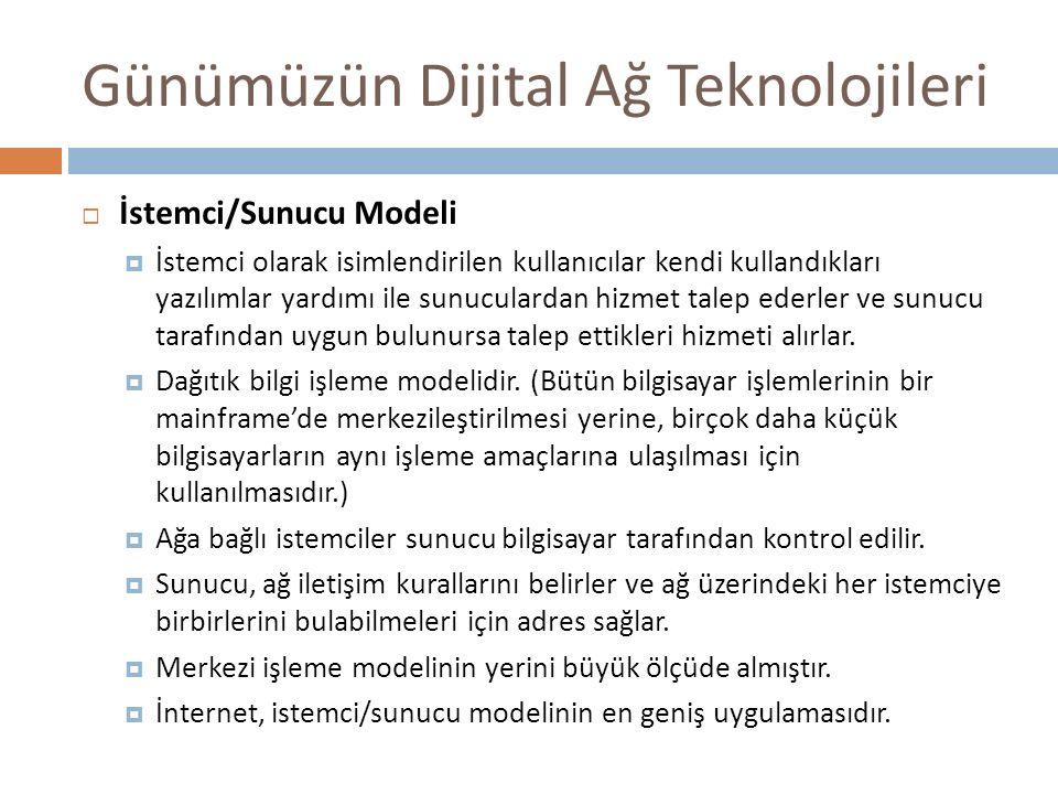 Günümüzün Dijital Ağ Teknolojileri