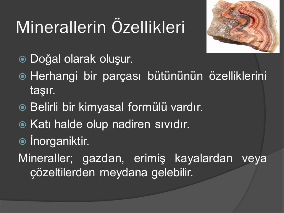 Minerallerin Özellikleri