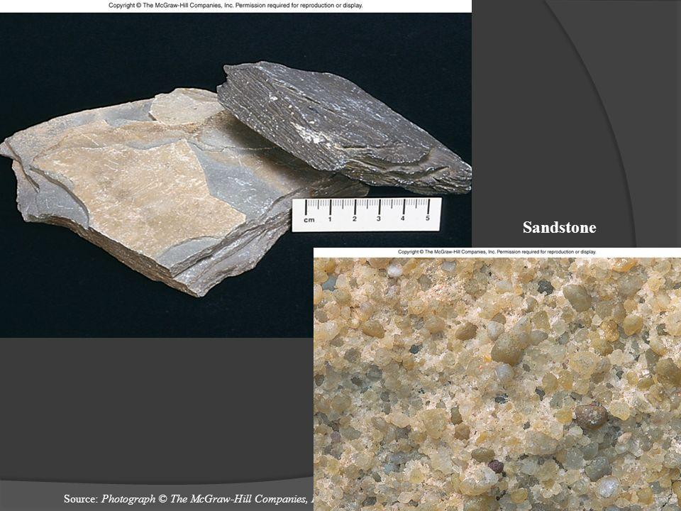 Sandstone Source: Photograph © The McGraw-Hill Companies, Inc./Bob Coyle, photographer.