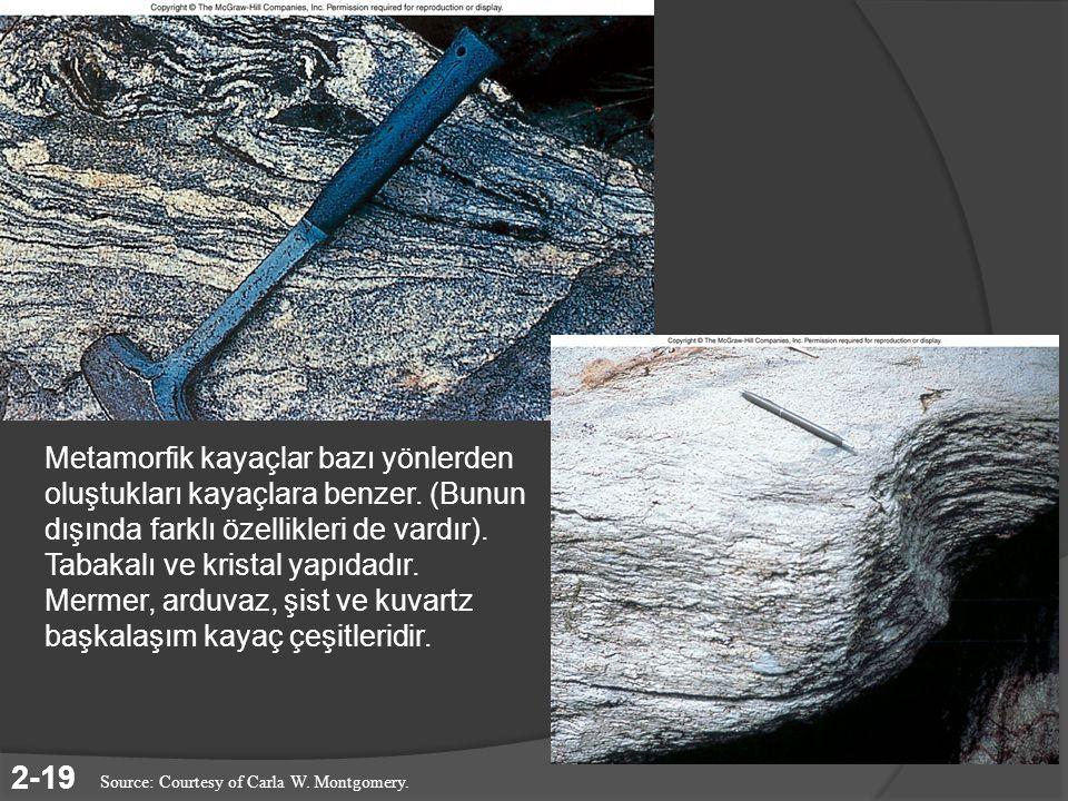 Metamorfik kayaçlar bazı yönlerden oluştukları kayaçlara benzer
