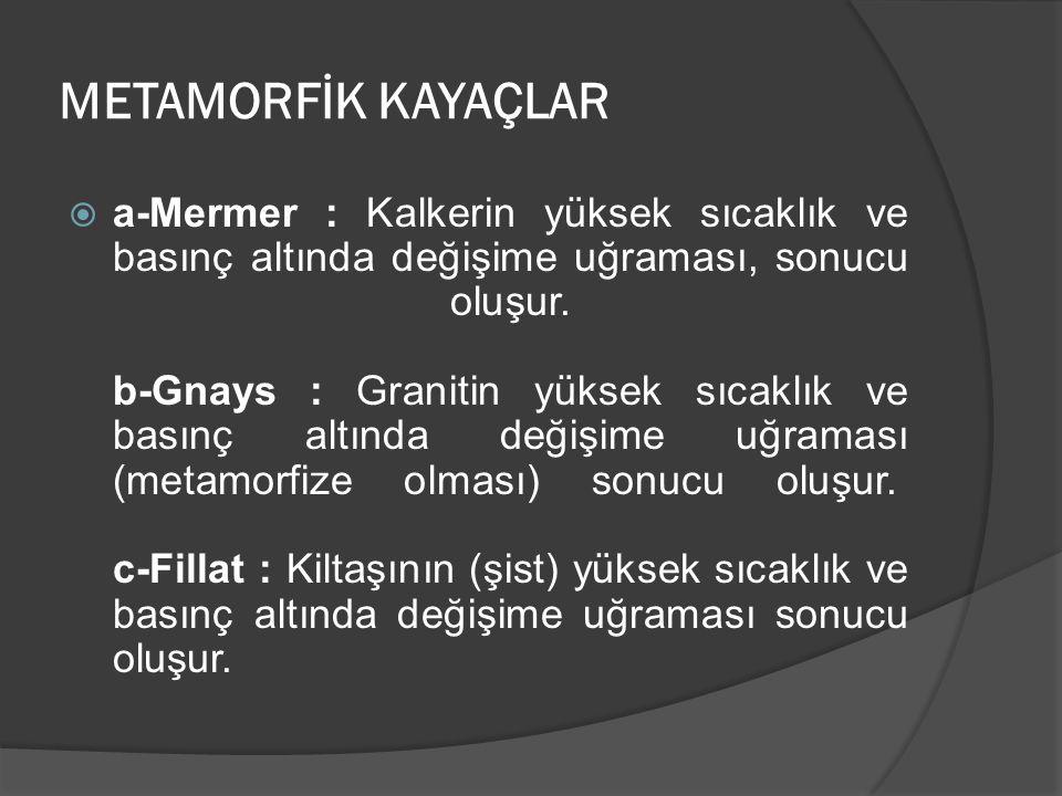 METAMORFİK KAYAÇLAR