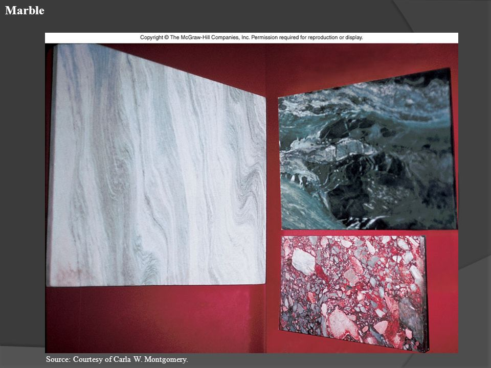Marble Source: Courtesy of Carla W. Montgomery.