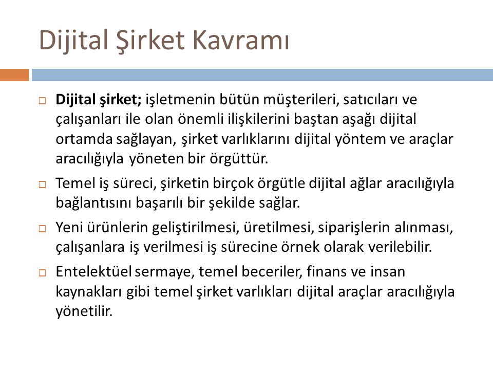 Dijital Şirket Kavramı