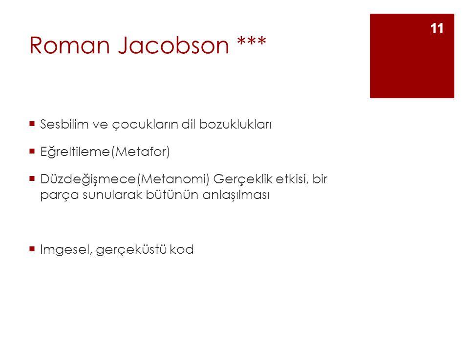 Roman Jacobson *** Sesbilim ve çocukların dil bozuklukları