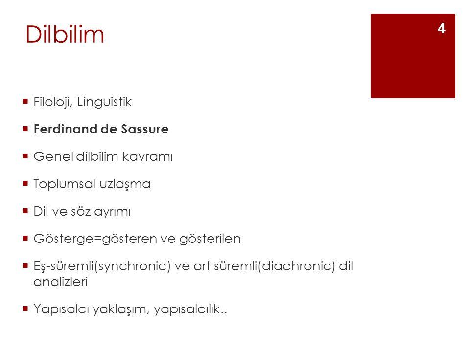 Dilbilim Filoloji, Linguistik Ferdinand de Sassure