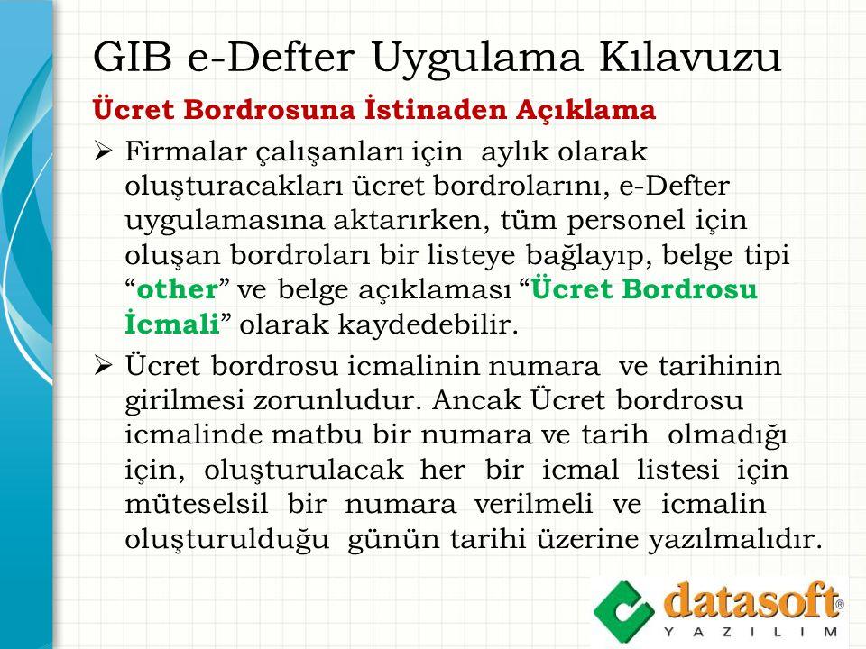 GIB e-Defter Uygulama Kılavuzu