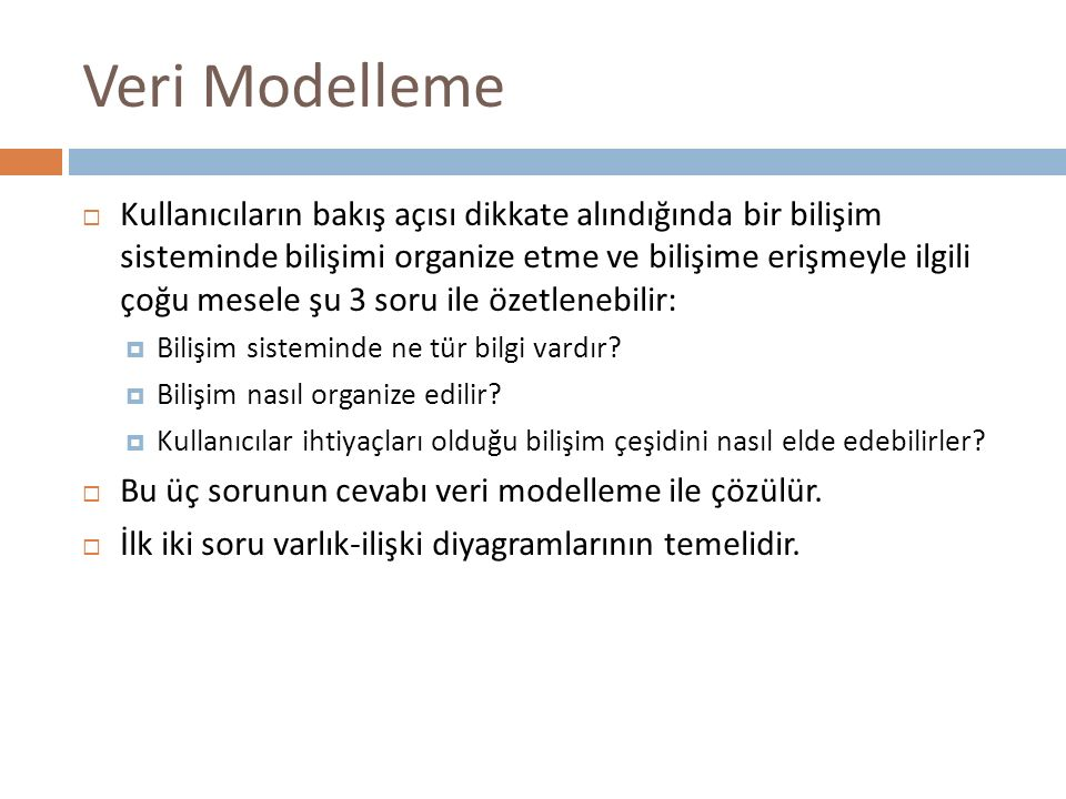 Veri Modelleme