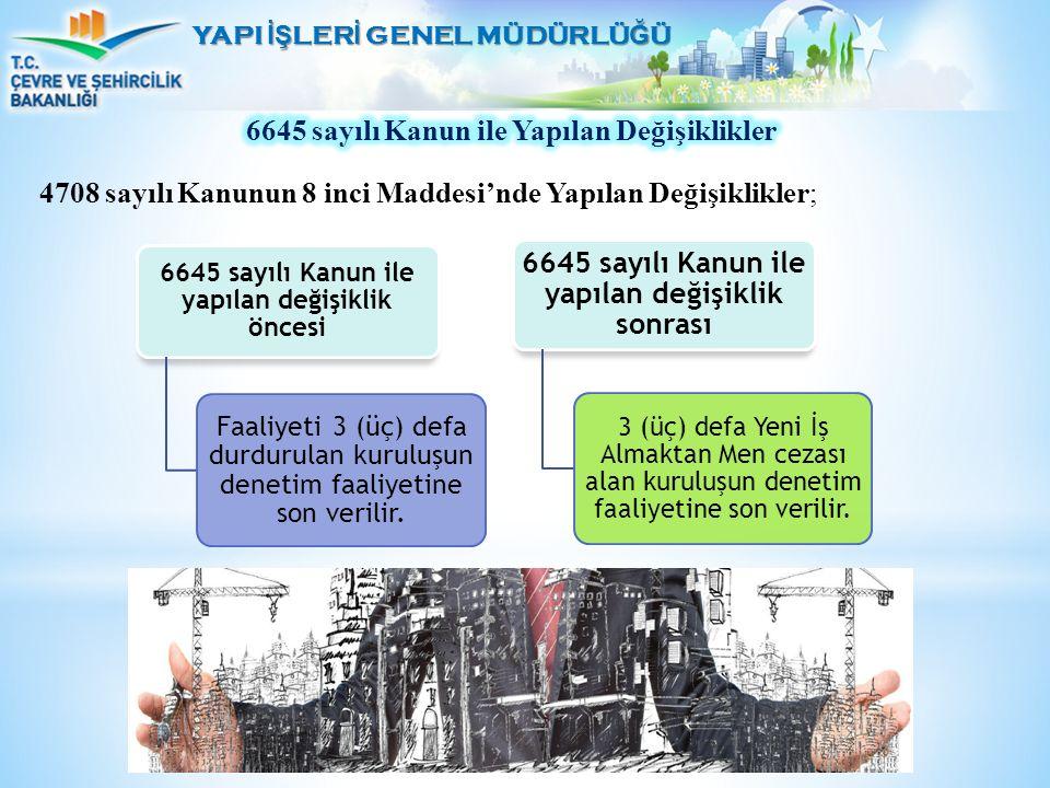 6645 sayılı Kanun ile Yapılan Değişiklikler
