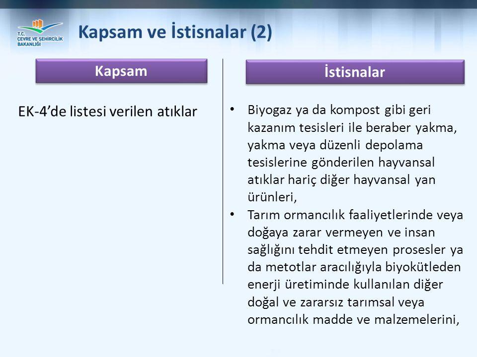 Kapsam ve İstisnalar (2)