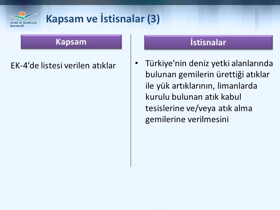 Kapsam ve İstisnalar (3)