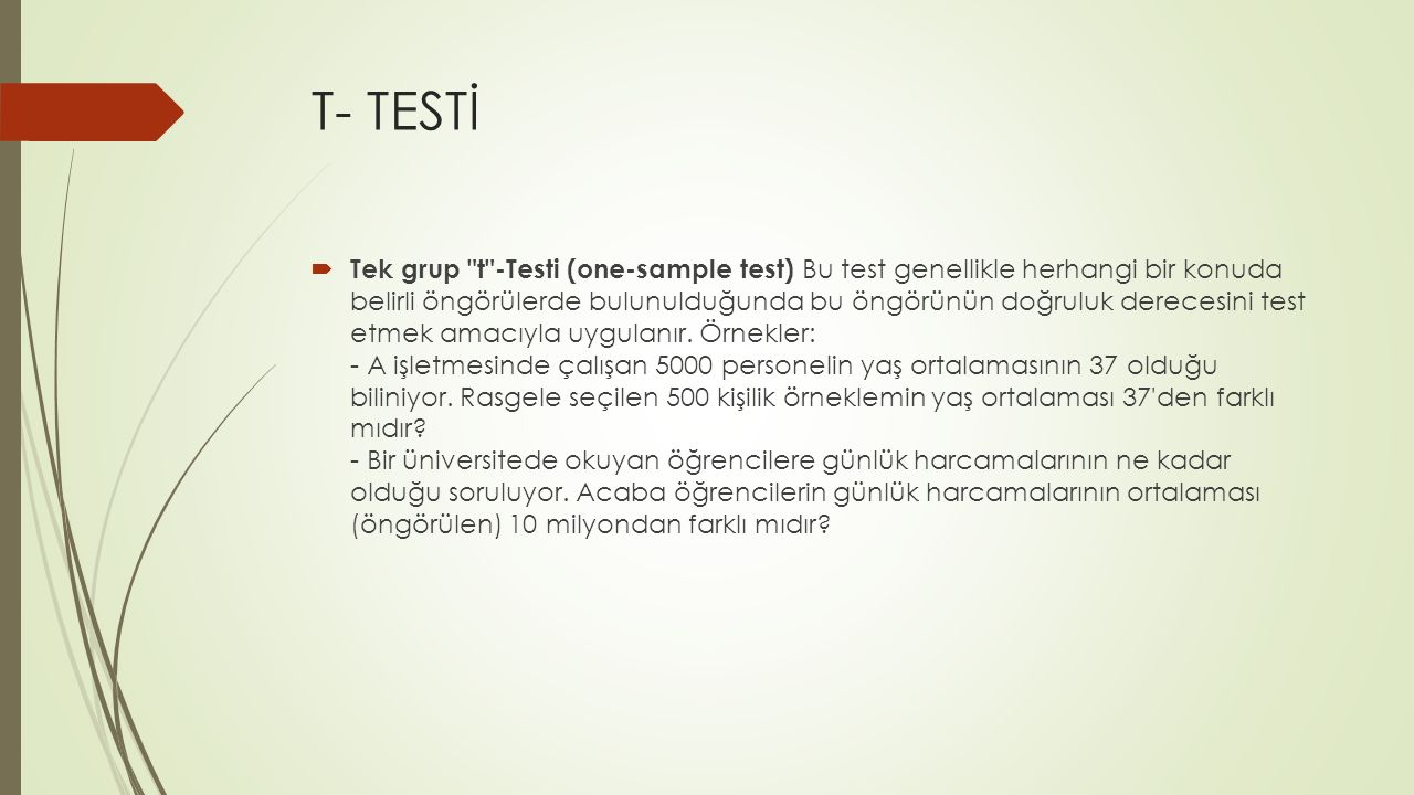 T- TESTİ