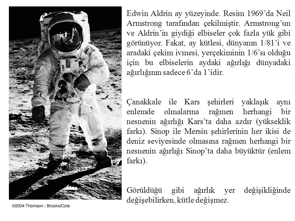 Edwin Aldrin ay yüzeyinde