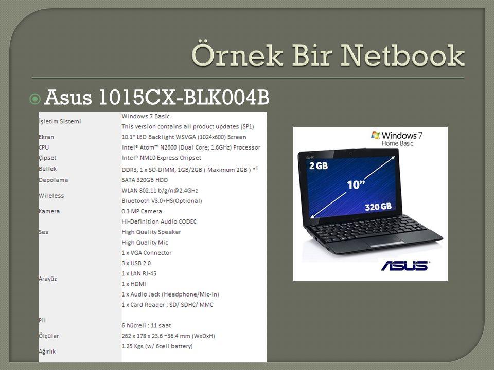 Örnek Bir Netbook Asus 1015CX-BLK004B
