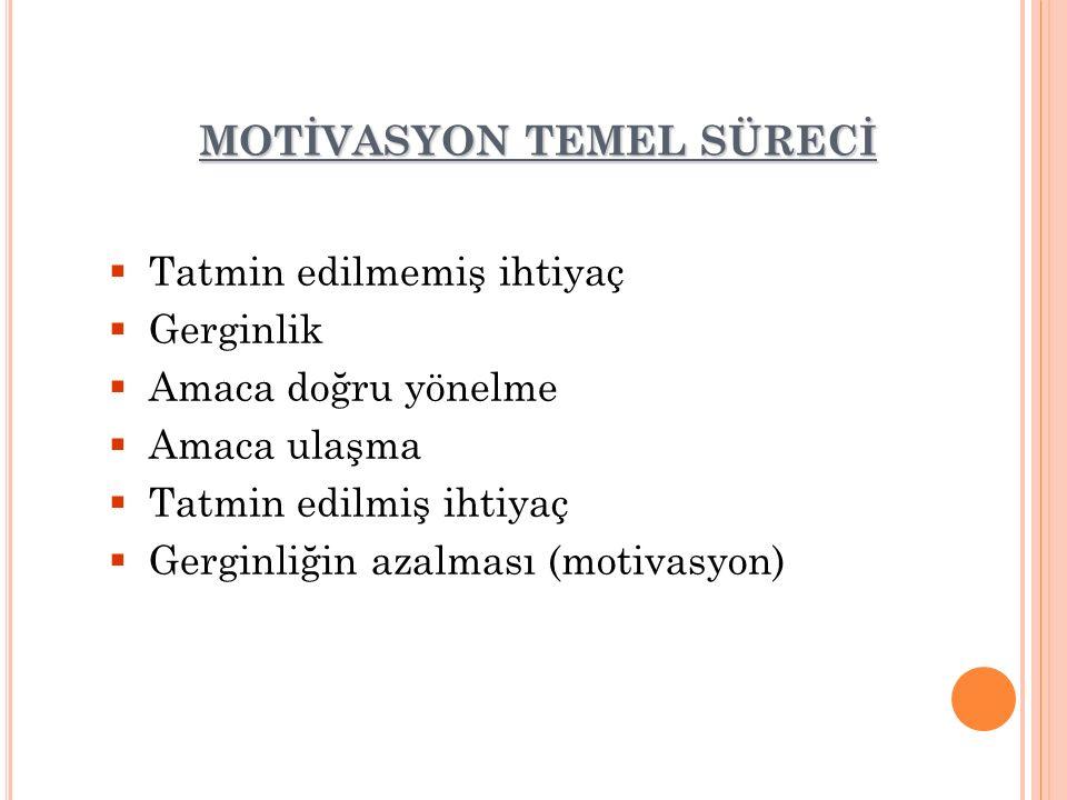 MOTİVASYON TEMEL SÜRECİ