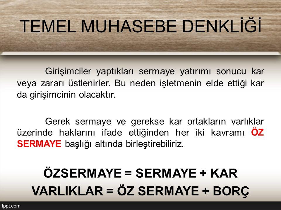 TEMEL MUHASEBE DENKLİĞİ