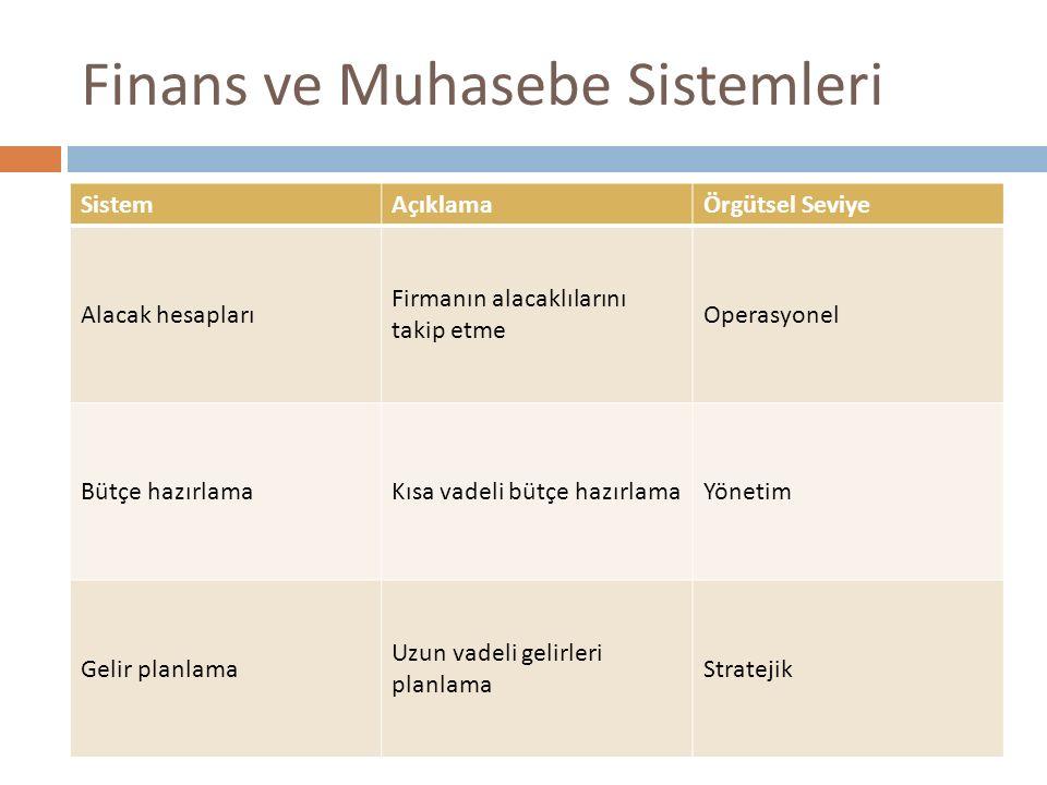 Finans ve Muhasebe Sistemleri