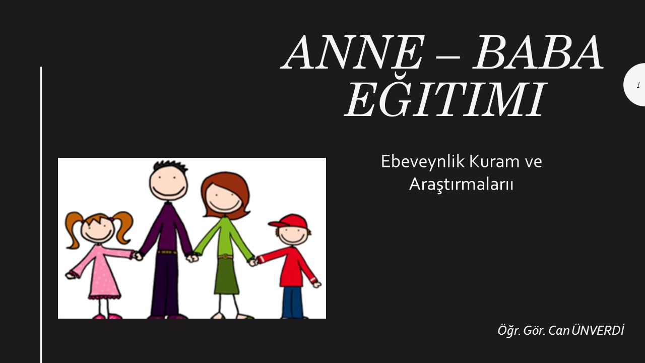 Ebeveynlik Kuram ve Araştırmalarıı