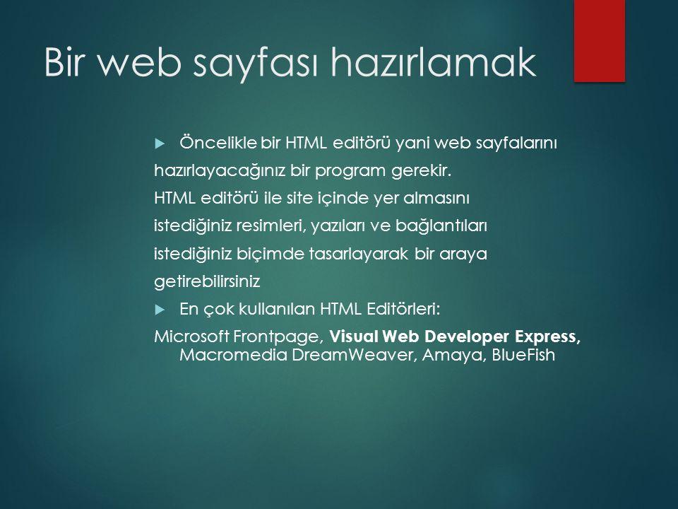 Bir web sayfası hazırlamak