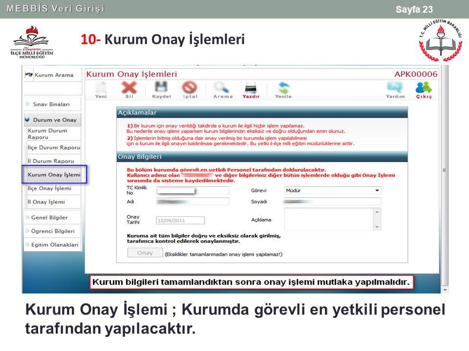 MEBBİS Veri Girişi 10- Kurum Onay İşlemleri.