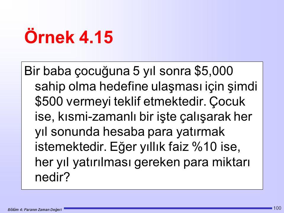 Örnek 4.15