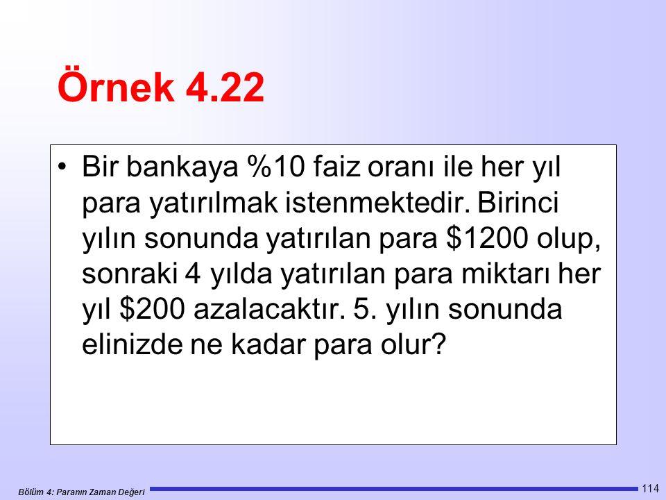 Örnek 4.22